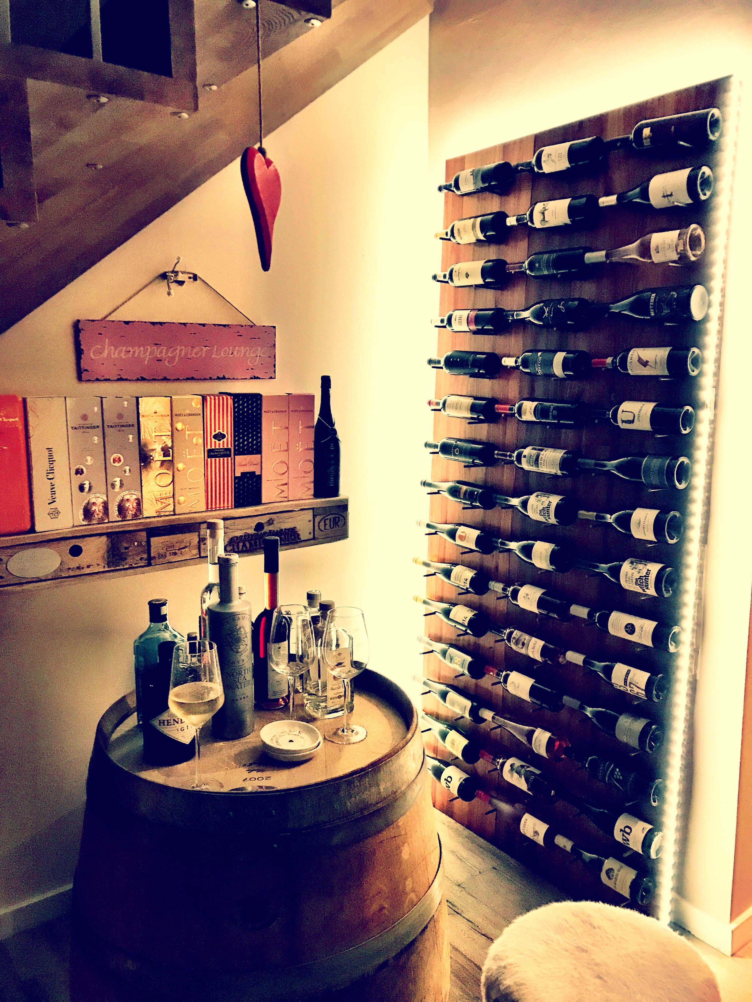 Unser Selbst Gebautes Weinregal Weinregal Weinkisten Pinterest