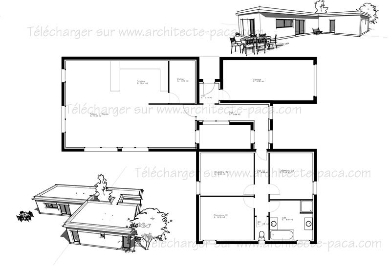 Plan Maison 5 Pieces | Plan Maison | Pinterest | Plans De Maison