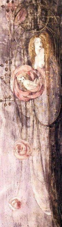 Sleeping Princess Frances MacDonald McNair Counted Cross Stitch Pattern