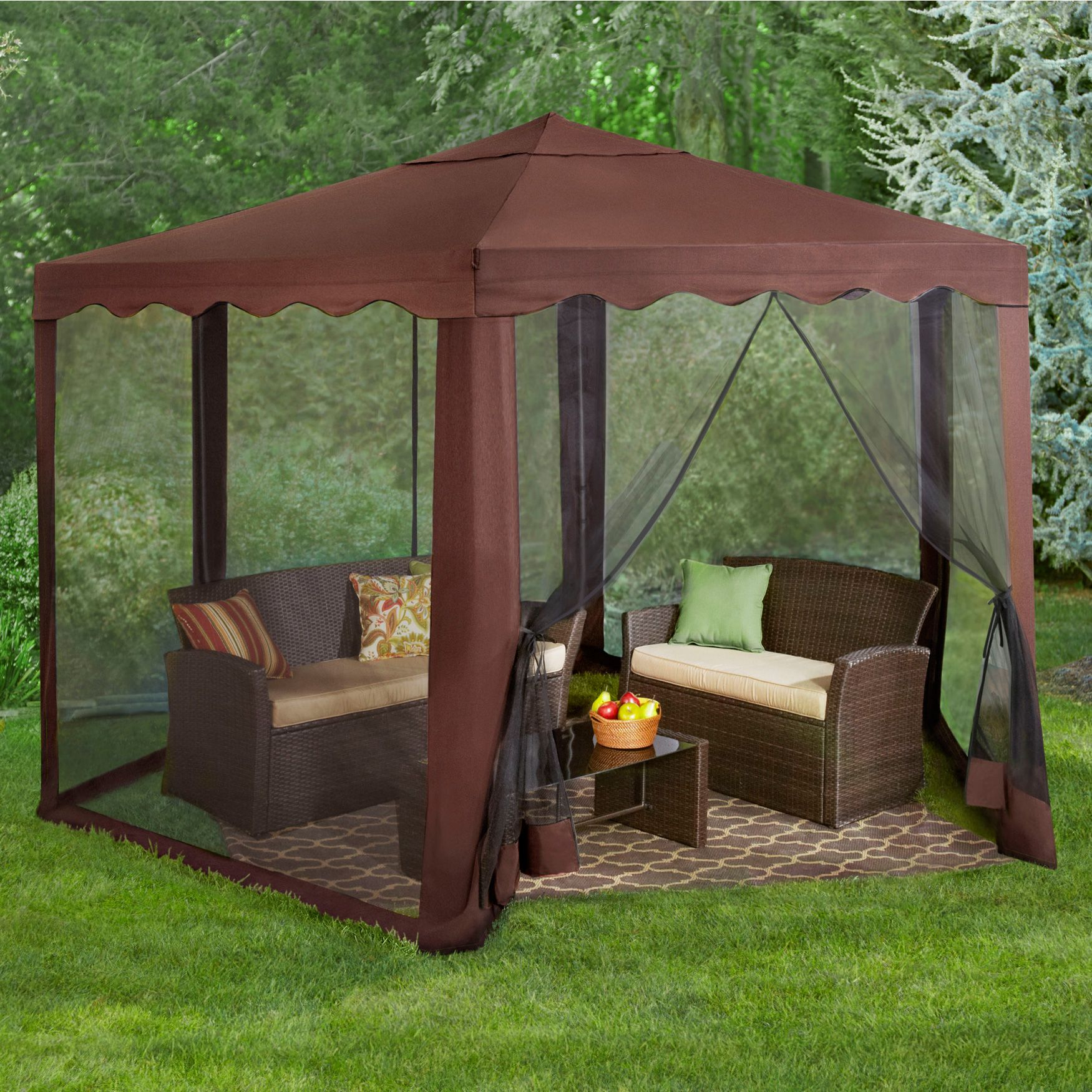 Related Image Backyard Gazebo Screened Gazebo Screen House