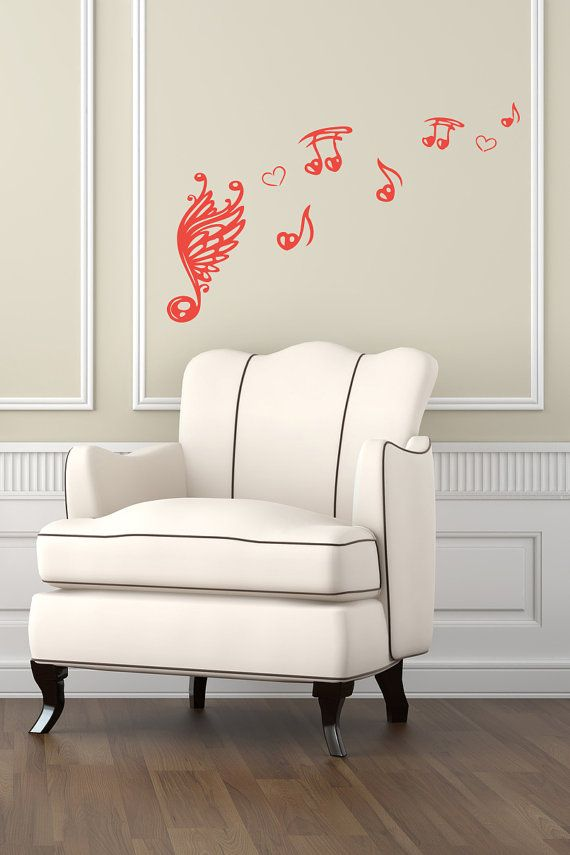 Vinyl Decal Music Design Musical Notes Wall Art Decor Removable ...