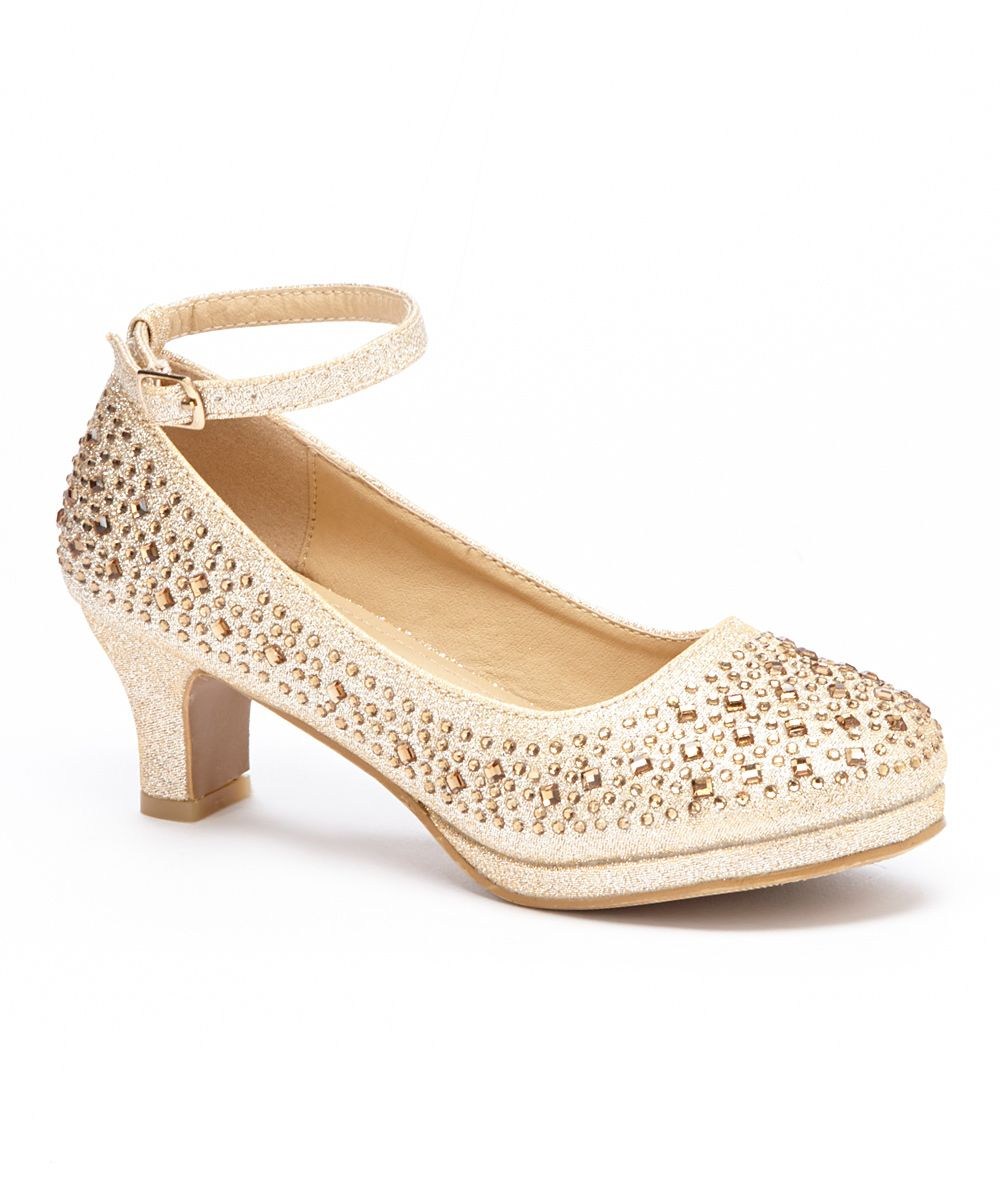 85fd31b2a Champagne Sparkle Ankle Strap Dressy Shoe - Girls | Products ...
