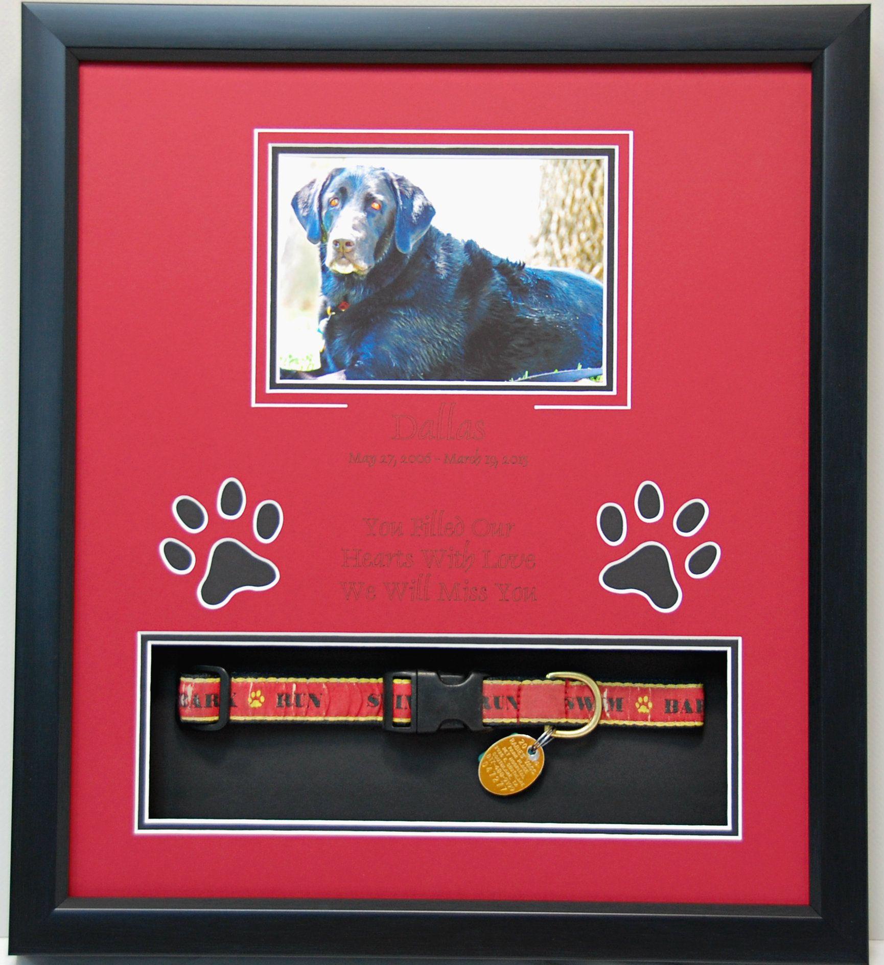 15 X 17 Pet Memorial Shadow Box Display R I P Dallas You Were Loved Every Day Pet Memorials Custom Pet Memorials Pet Memorial Diy