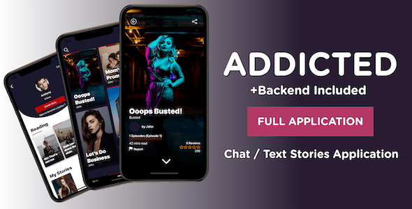 Addicted Chat Text Stories React Native Application Like Yarn Hooked React Native Dating Chat Application