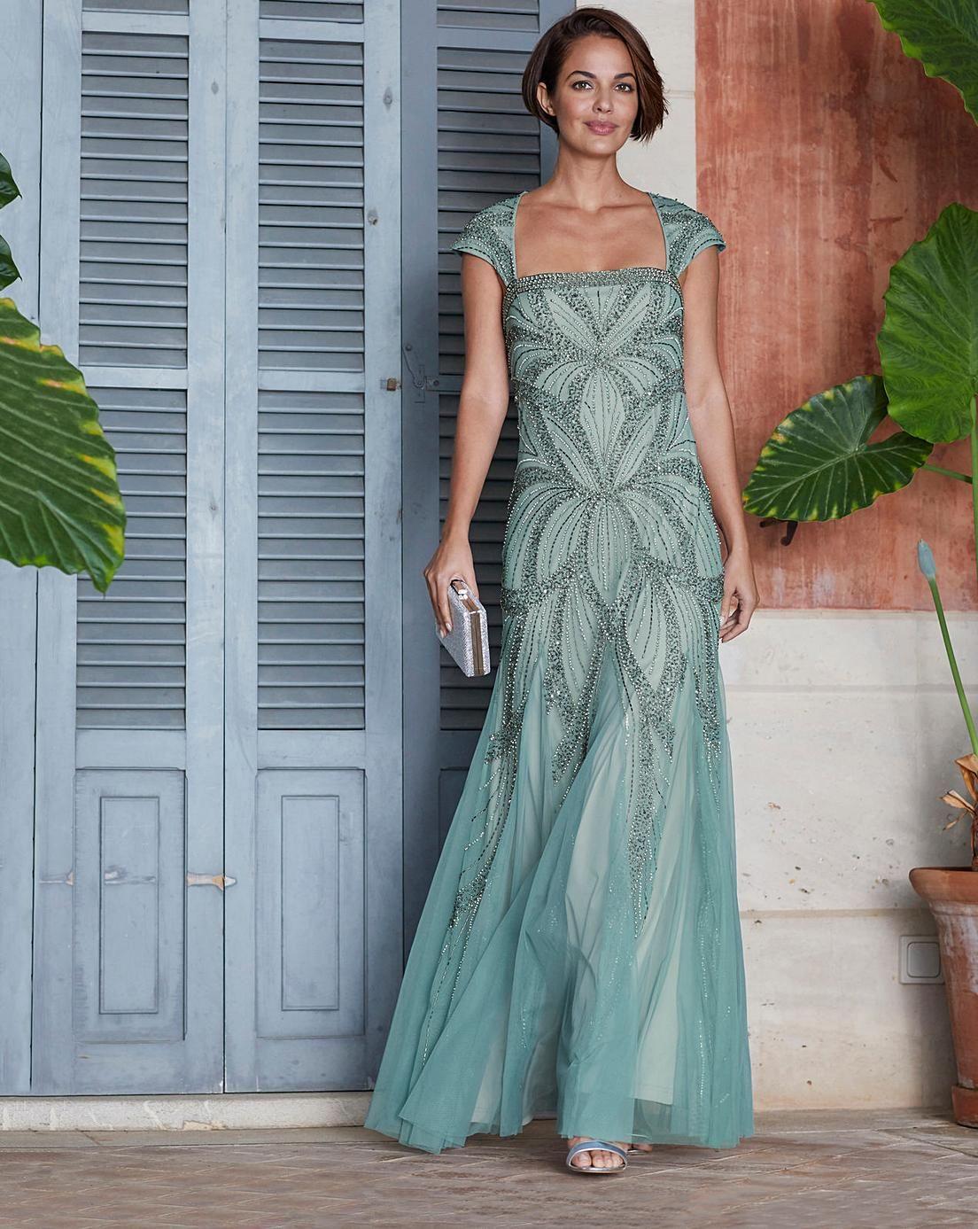 Joanna Hope Beaded Maxi Dress Beaded Maxi Dress 1920s Evening Dress Classy Dress [ 1387 x 1104 Pixel ]