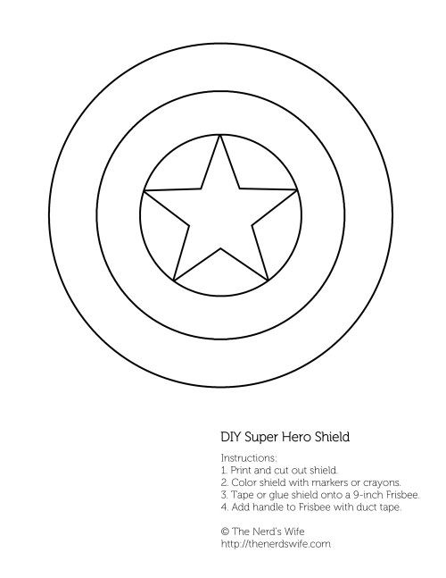 Diy Captain America Shield Free Printable Patterns Festa De
