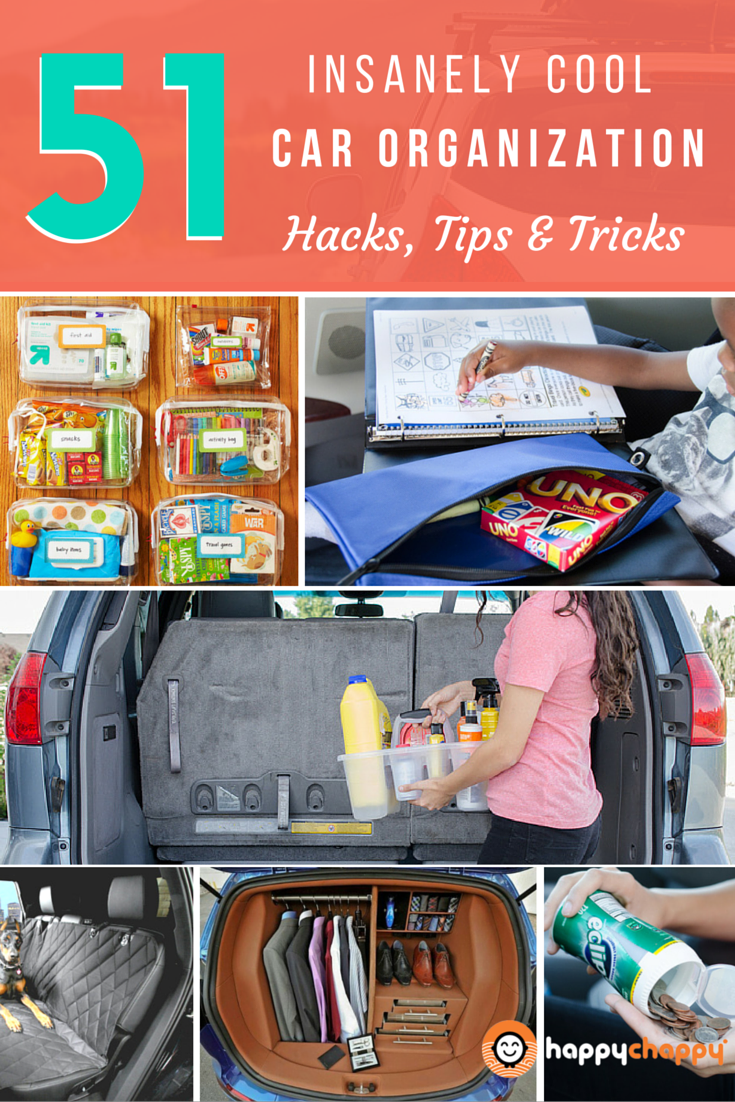 51 Insanely Awesome Car Organization Hacks Tips Tricks