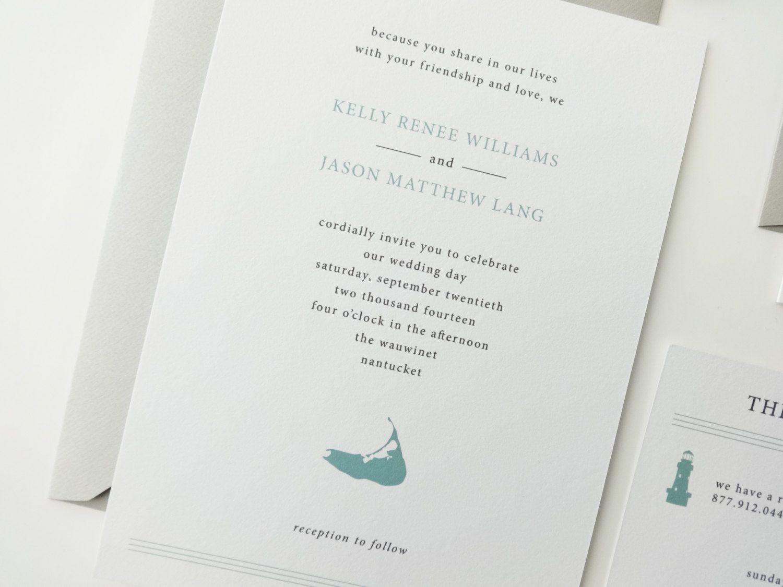 Kelly Wedding Invitation Deposit / Nautical by avisualconcept ...