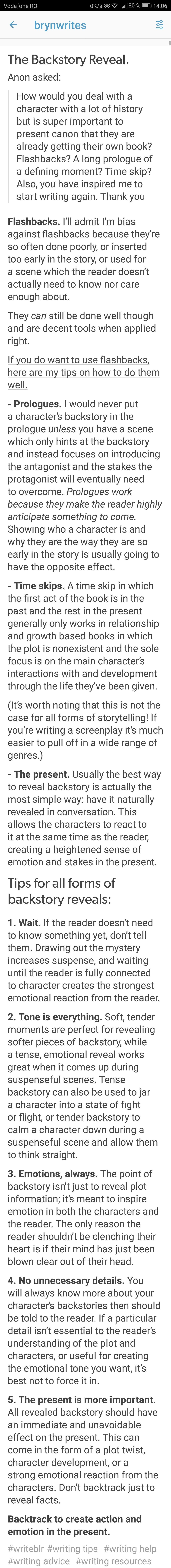 Best post I've seen on backstory  #4 is super hard | writing