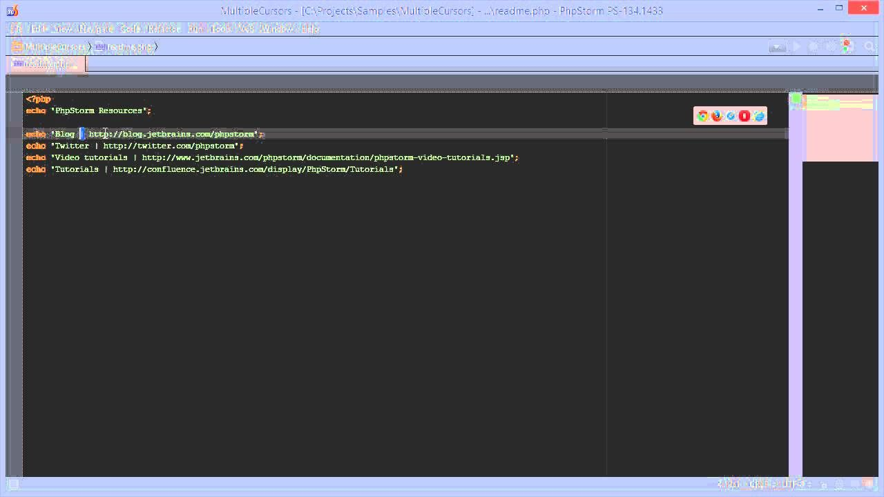 PHP - Multiple Selection in PhpStorm 8 and other IntelliJ IDEA-based ...