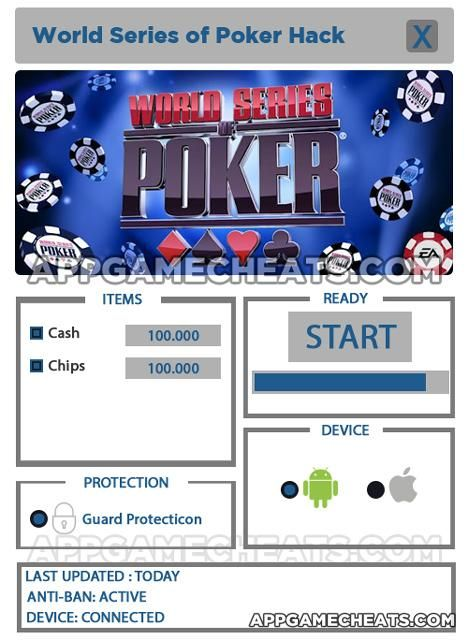 WSOP Hack For Cash and ChipsInapp purchases for WSOP can