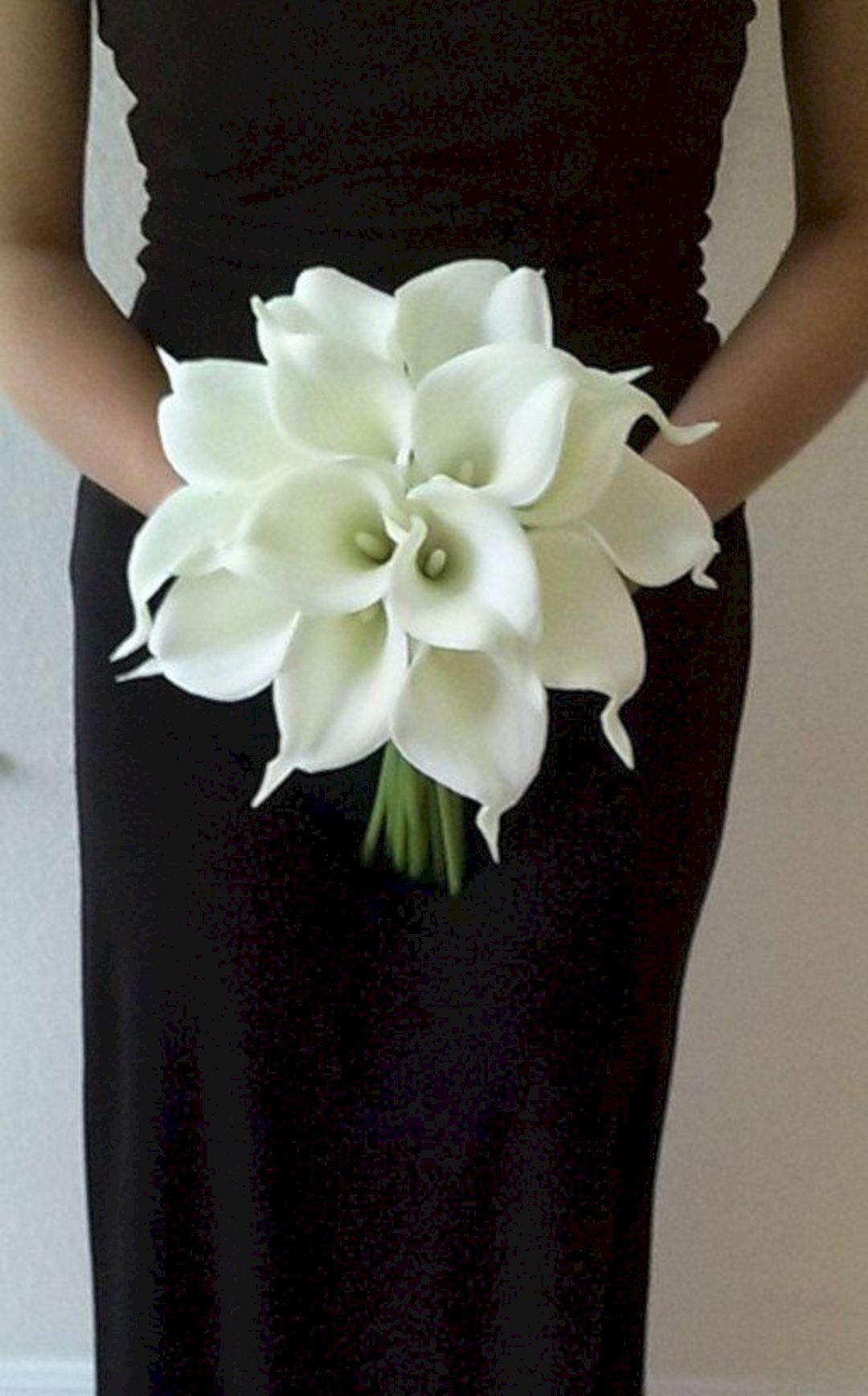 White Wedding Bouquet Ideas 35 Calla lily bridal bouquet