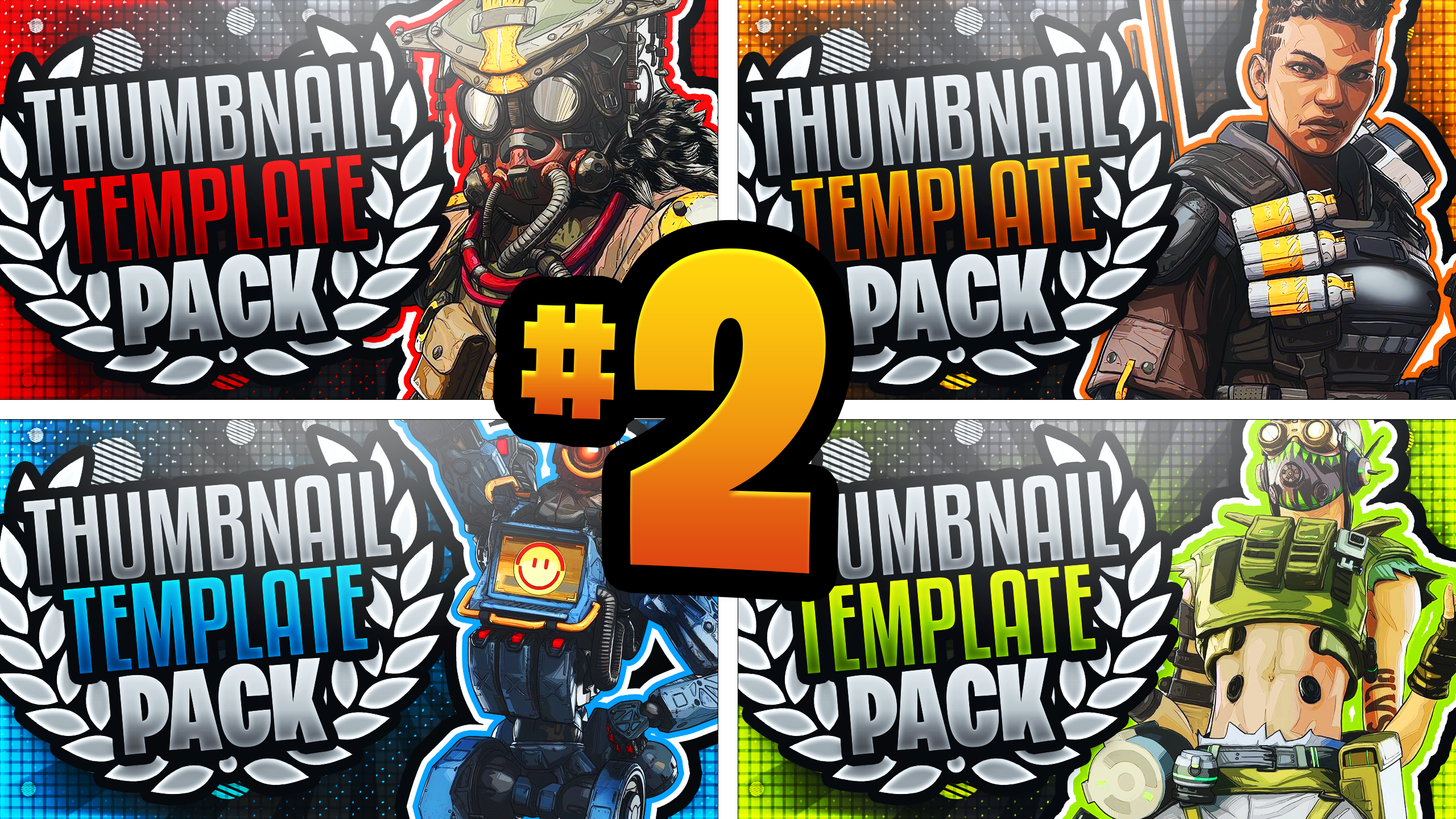 Apex Legends Youtube Thumbnail Template Pack 2 Photoshop Template Youtube Thumbnail Youtube Thumbnail Template Thumbnail Design