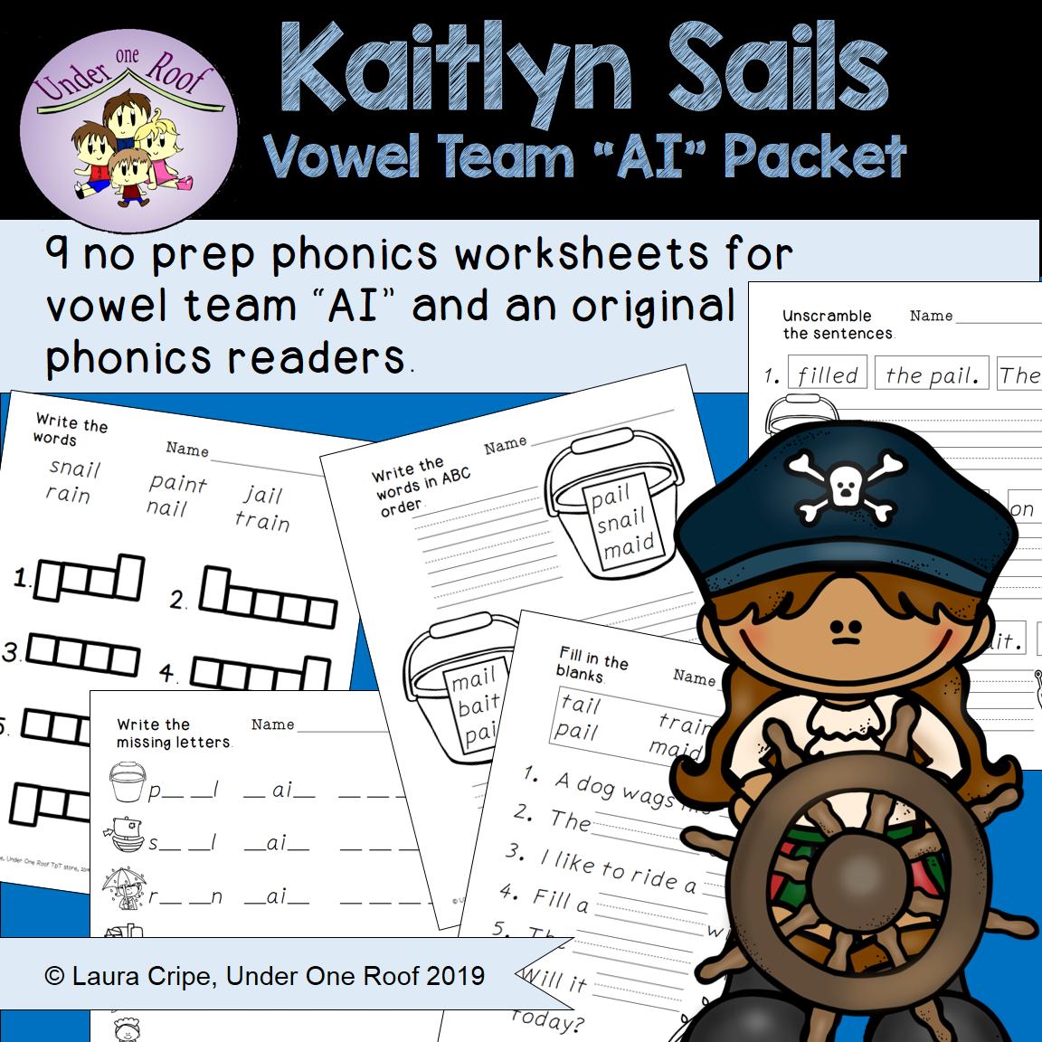 Kaitlyn Sails Ai Team Phonics Packet
