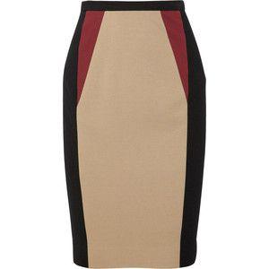 Jason Wu Color-block stretch-jersey pencil skirt | Fashion ...