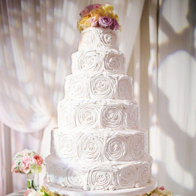 Buttercream Rosette Wedding Cake Jared Wilson Photography The Sugarplum Shoppe