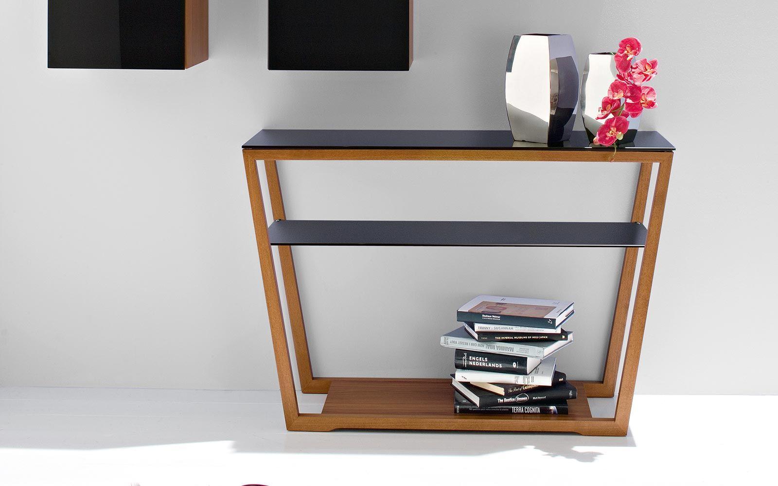 Element: consolle in vetro e struttura in legno - Calligaris CS/5044 ...