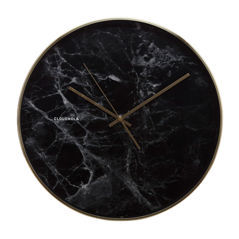 Structure Black Marble Wall Clock In 2020 Wall Clock Silent Clock Wall Clock