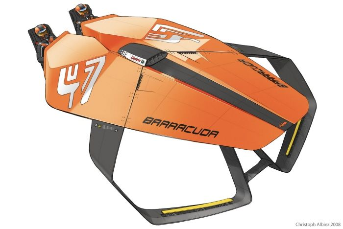 barracuda - Hydrofoil Race Boat by Christoph Albiez at Coroflot.com