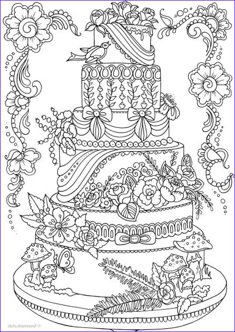 Cake Coloring Pages , 28 Birthday Cake Coloring Pages