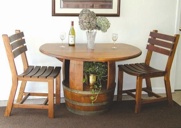 Wine Barrel Furniture Stylish Shabby Chic And I Bet Super