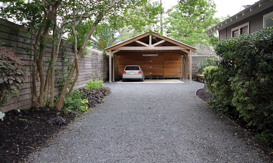 Pin by GoBloominCrazy on Car Port Modern driveway, Rock