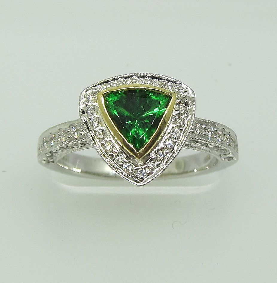 ring lc karo shop value stone halo garnet uses education tsavorite rings meaning style mounted gemstone info