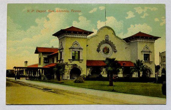 San Antonio Texas Southern Pacific Depot Railroad Rr Train