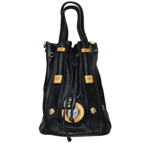 ed2aa5996ecd VINTAGE GIANNI VERSACE DRAW STRING BUCKET BAG