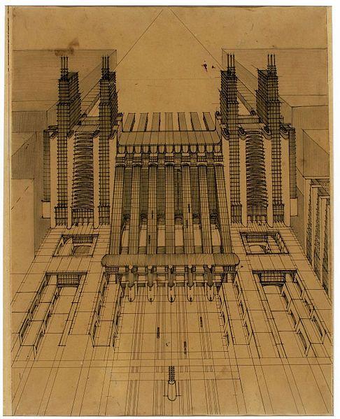 File Stazione Sant Elia Jpg Wikipedia The Free Encyclopedia Arquitectura Dibujo De Arquitectura Bocetos Arquitectura