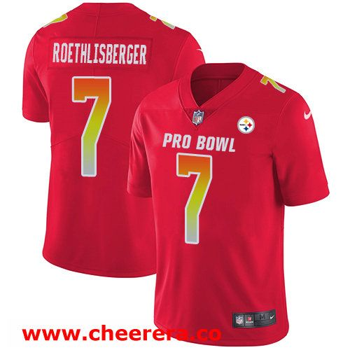 14b2b3eec8c ... 7 Ben Roethlisberger Red Nike NFL Game Mens Jersey Pittsburgh Steelers  2018 Pro Bowl ...