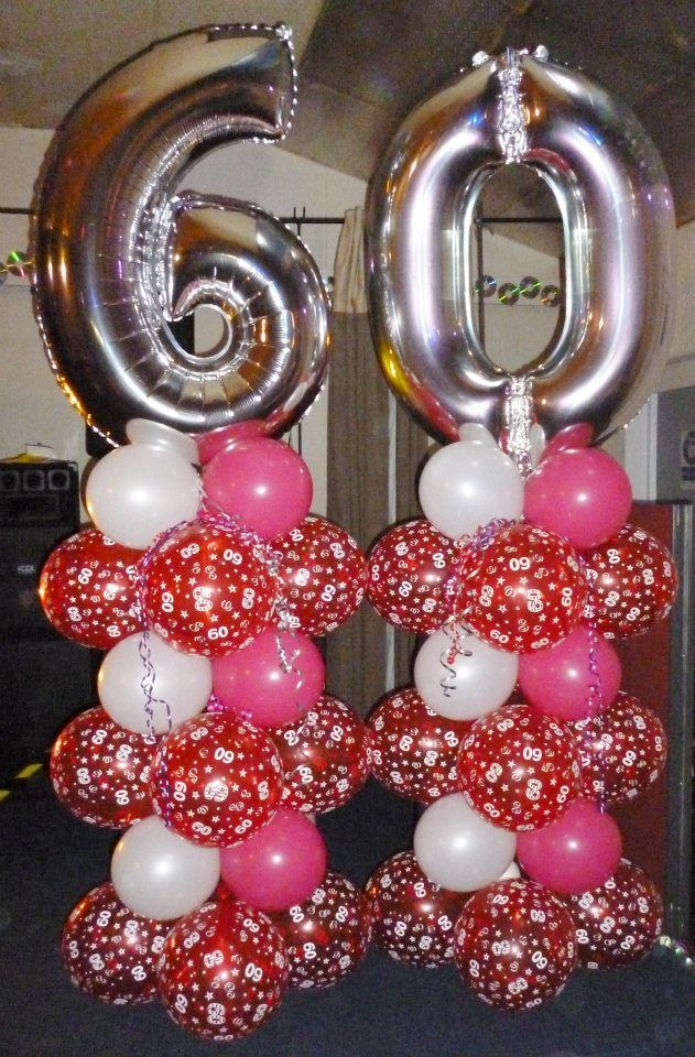 Balloon column balloon columns pinterest balloon for Decoration 60th birthday party