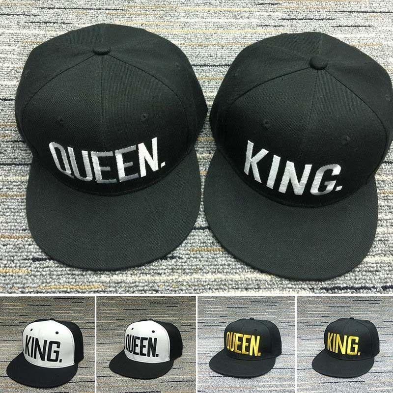 80b455800b8 Adjustable Letter King And Queen Hat Baseball Cap Hats Hip Hop Lovers  Snapback  ebay  Fashion
