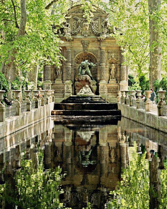 Paris France Photograph Medici Fountain Photography Print