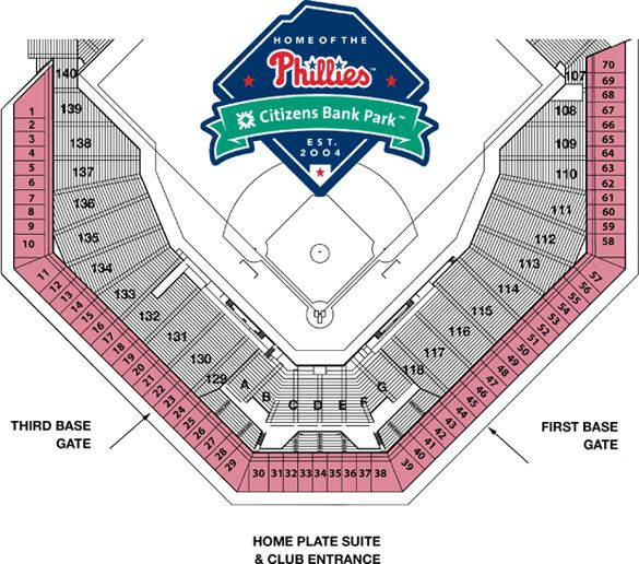 Citizen Bank Park Seating Chart Phillies Mens Tops Dresses