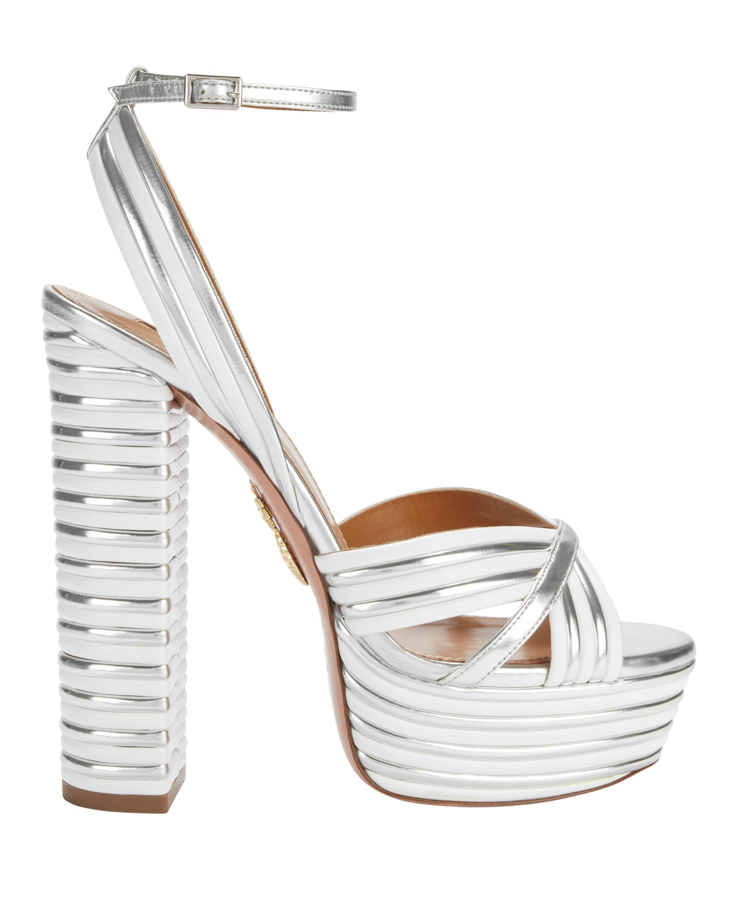 e59e597772 Sundance Silver Platform Sandals | H I G H - H E E L S A N D A L S ...
