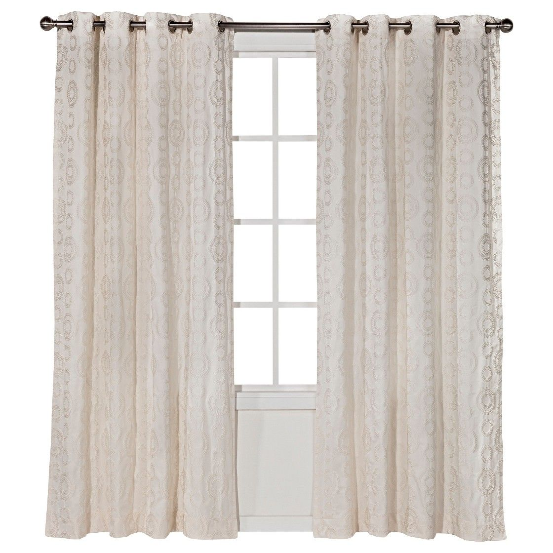 Threshold Dot Jacquard Curtain Panel   decor   Pinterest   Curtain ...