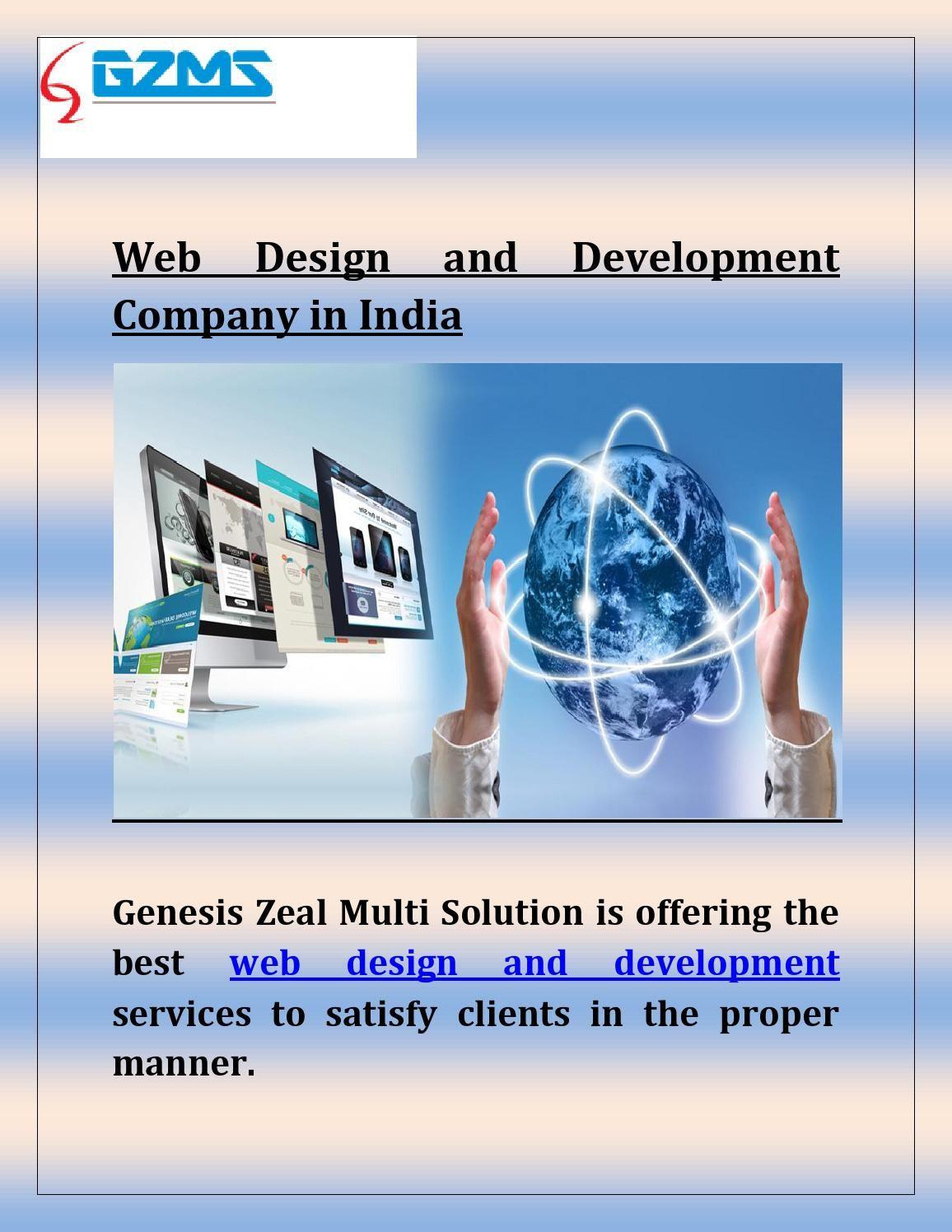 Gzms Web Design And Development Company In India Web Development Design Web Design Development