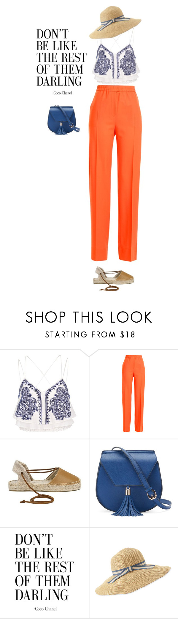 """Don't be..."" by lseed87 ❤ liked on Polyvore featuring River Island, Jil Sander, Soludos, Yoki and Eric Javits"