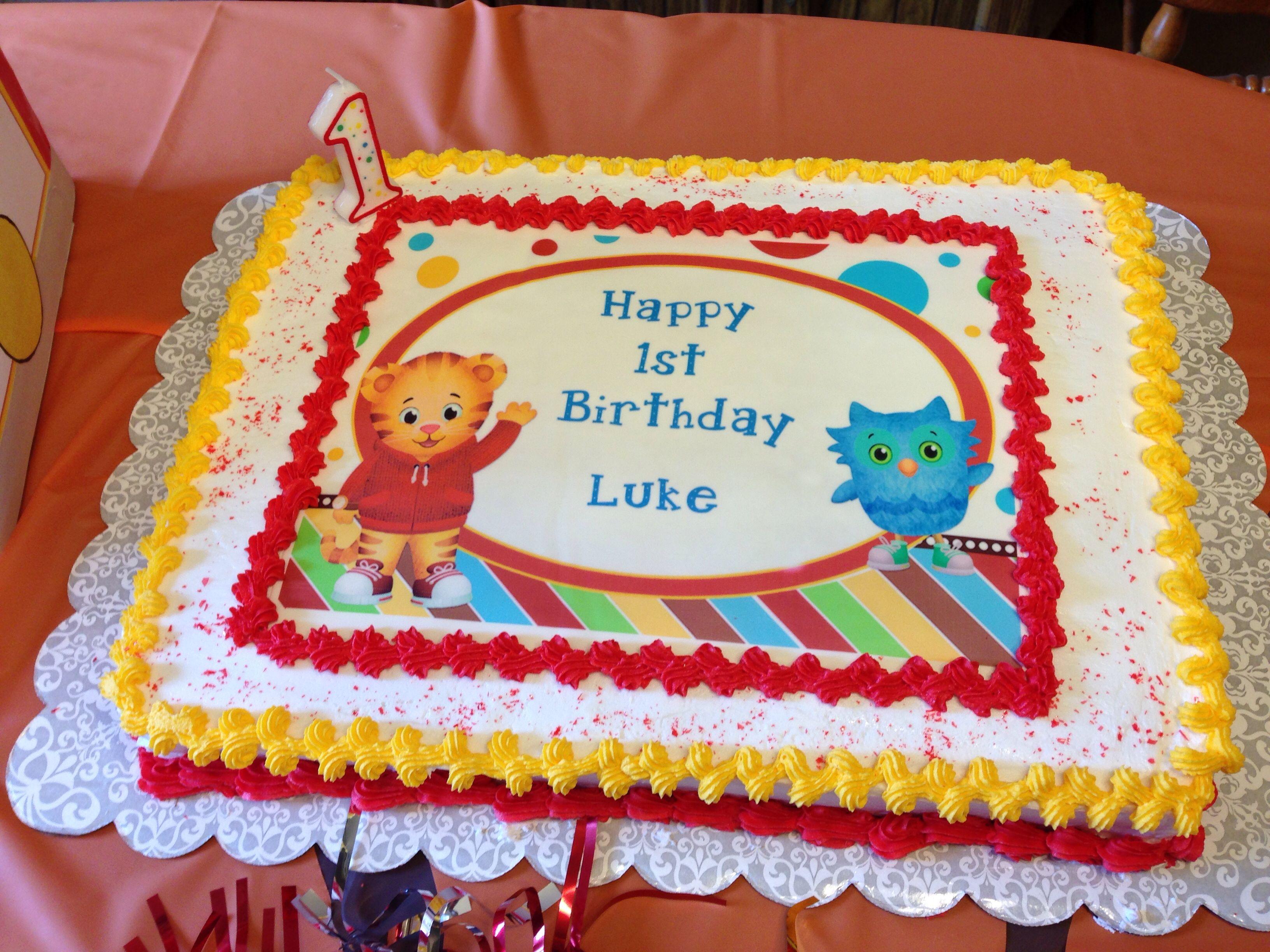 Awe Inspiring Daniel Tiger First Birthday Cake Tiger Birthday Party Daniel Funny Birthday Cards Online Elaedamsfinfo