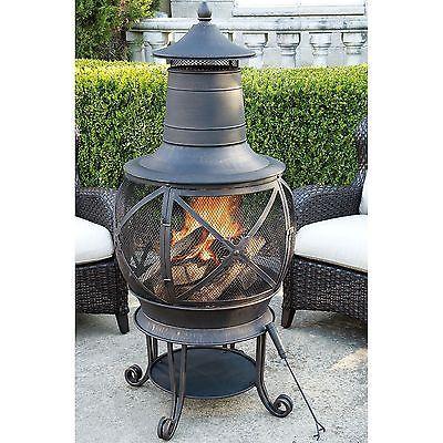 Elegant New Hayden Bronze Finish Chiminea Outdoor Wood Burning Fireplace Denver  Pick Up