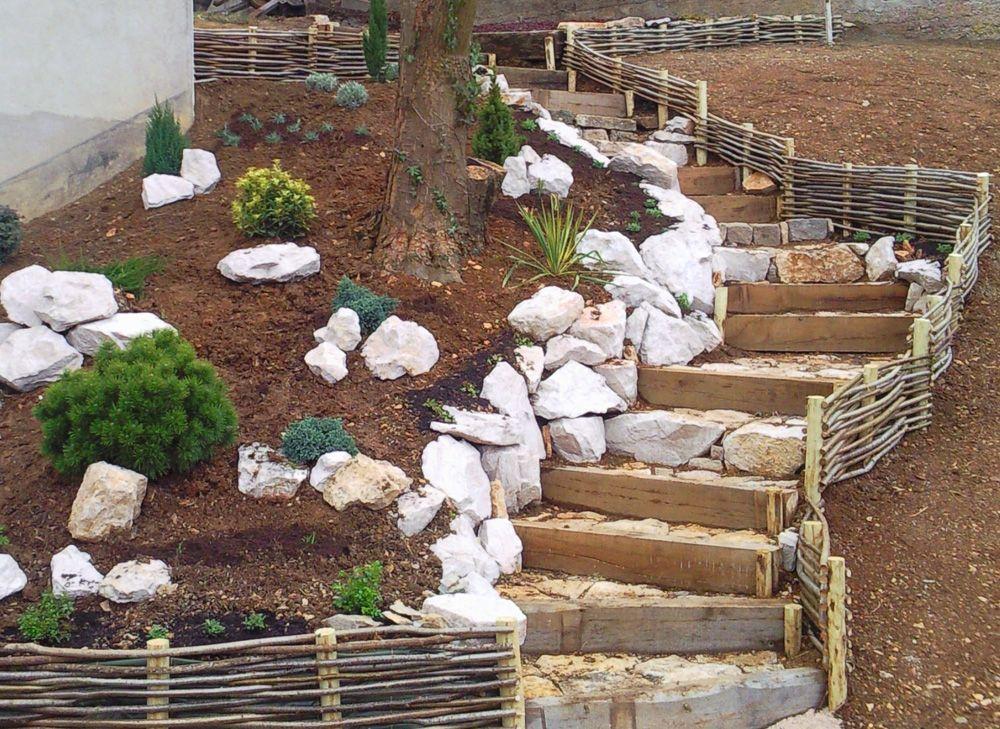 Enrochement dijon design paysage jardin nature for Enrochement paysager