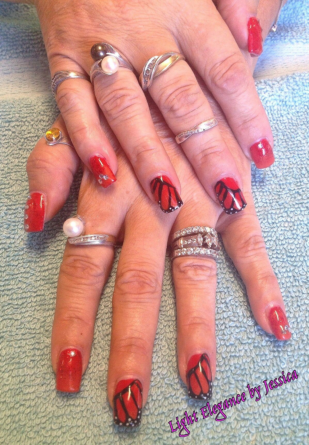 Light Elegance Gel Nails by Jessica in Salem Oregon. Butterfly, hand ...