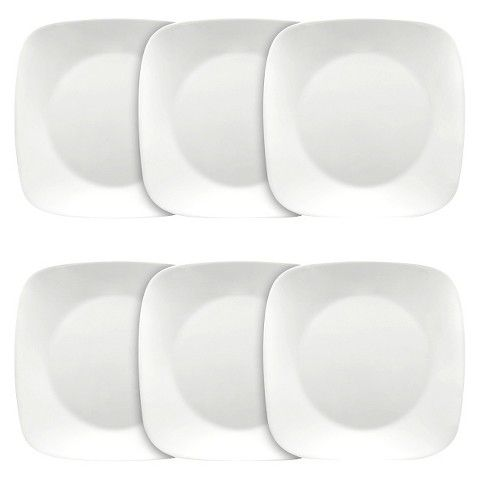 #Corelle 6 Piece Pure White Square Dinner Plate Set - The perfect canvas for your  sc 1 st  Pinterest & Corelle 6 Piece Pure White Square Dinner Plate Set (10.25) | Dinner ...