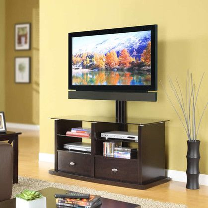 Whalen Pro 6 Tv Console With Swinging Floater