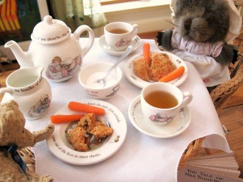 mrs. tiggy-winkle comes to tea | Jama's Alphabet Soup