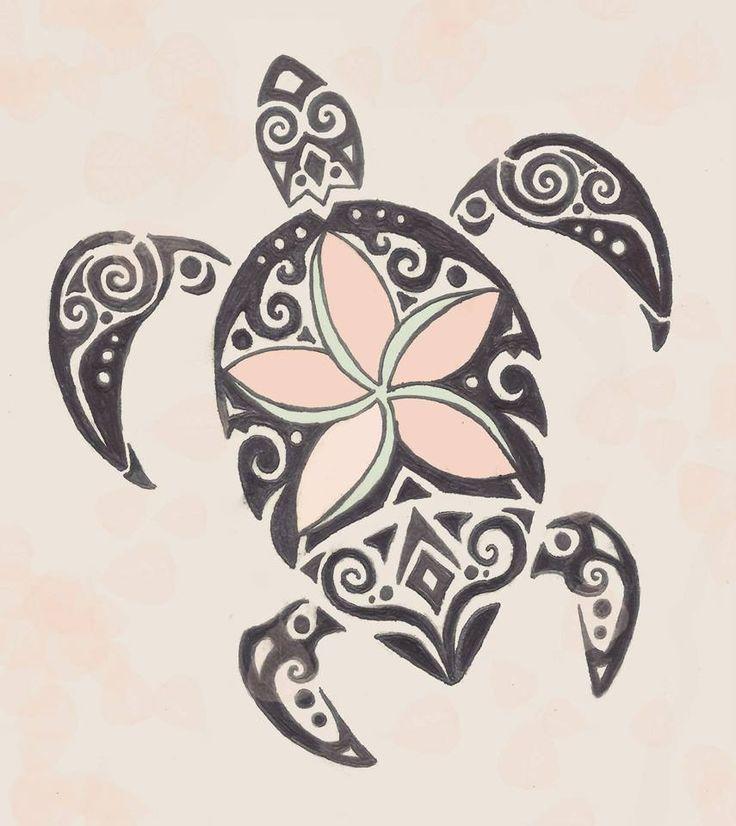 Resultado de imagen de hawaiian flower and turtle tattoos