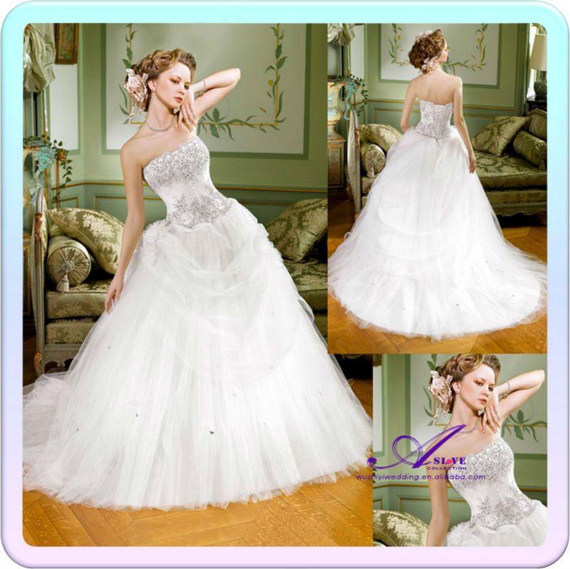 As 01118 Rhinestone Corset Top Puffy Spanish Style Designer Wedding Dresses 8 US 17300
