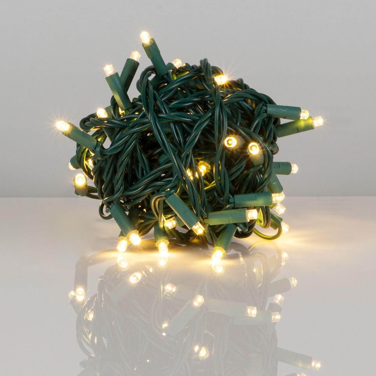 50 Warm White Outdoor LED Christmas Tree Lights, Mini 5MM