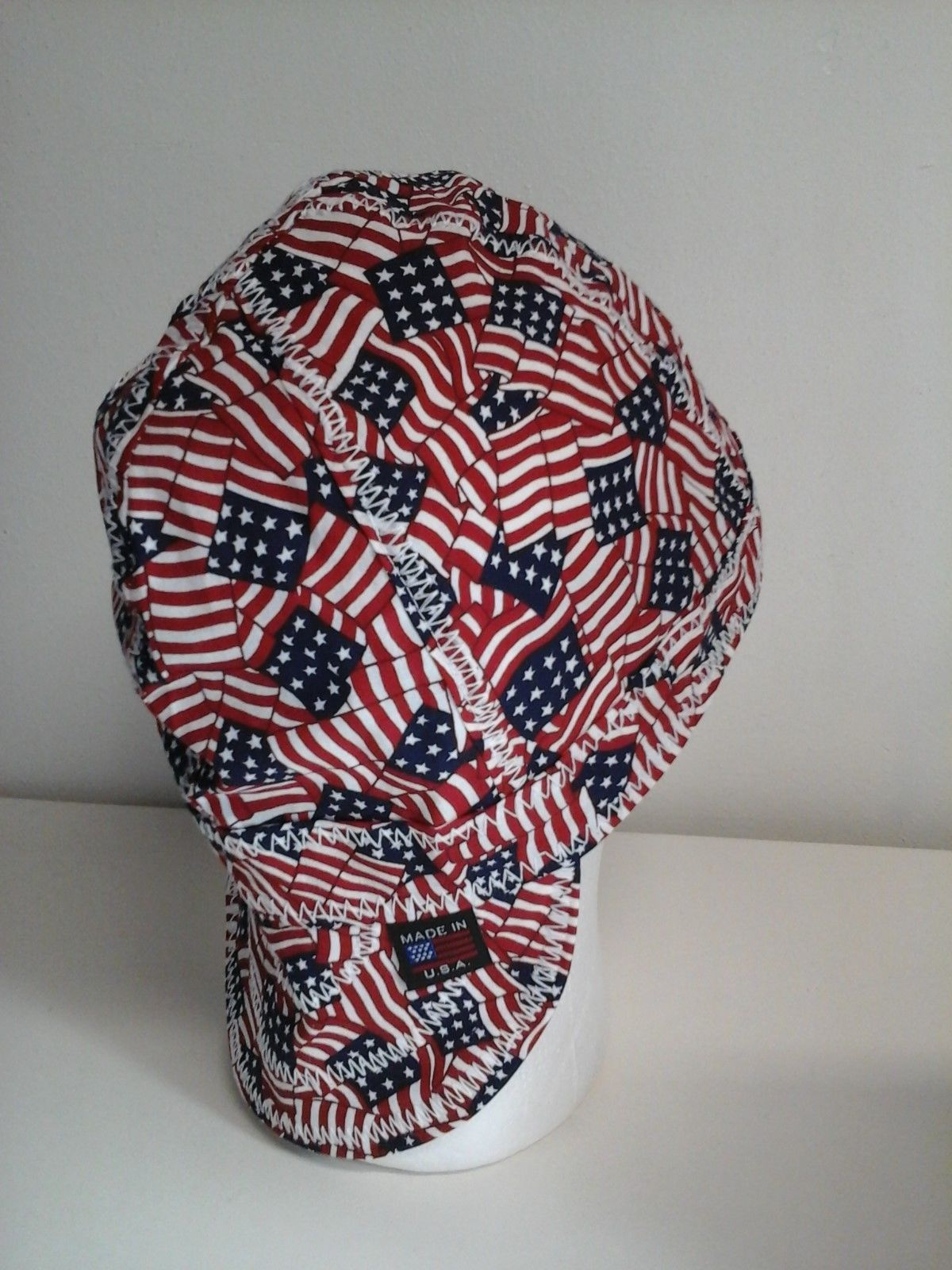 New Usa Tossed Flags Print Cotton Size 7 1 8 Welders Hat Pipefitter Flag Prints Printed Cotton Hats